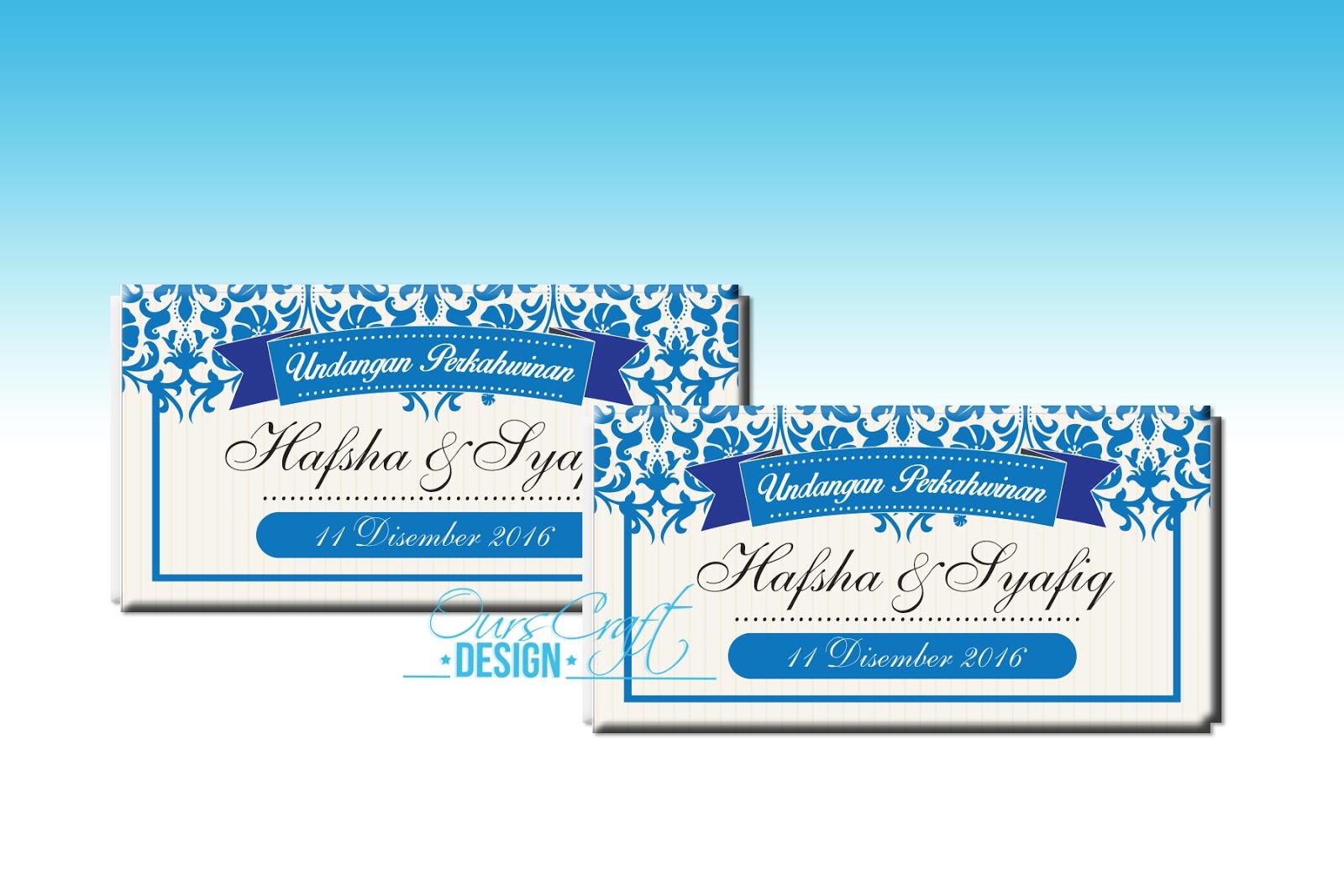 Penyatuan 2 Hati - Hafsha & Syafiq (design 2)