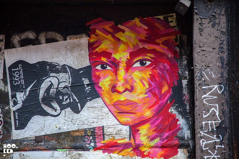 French Street Artist Manyoly paste-ups in Shoreditch, London