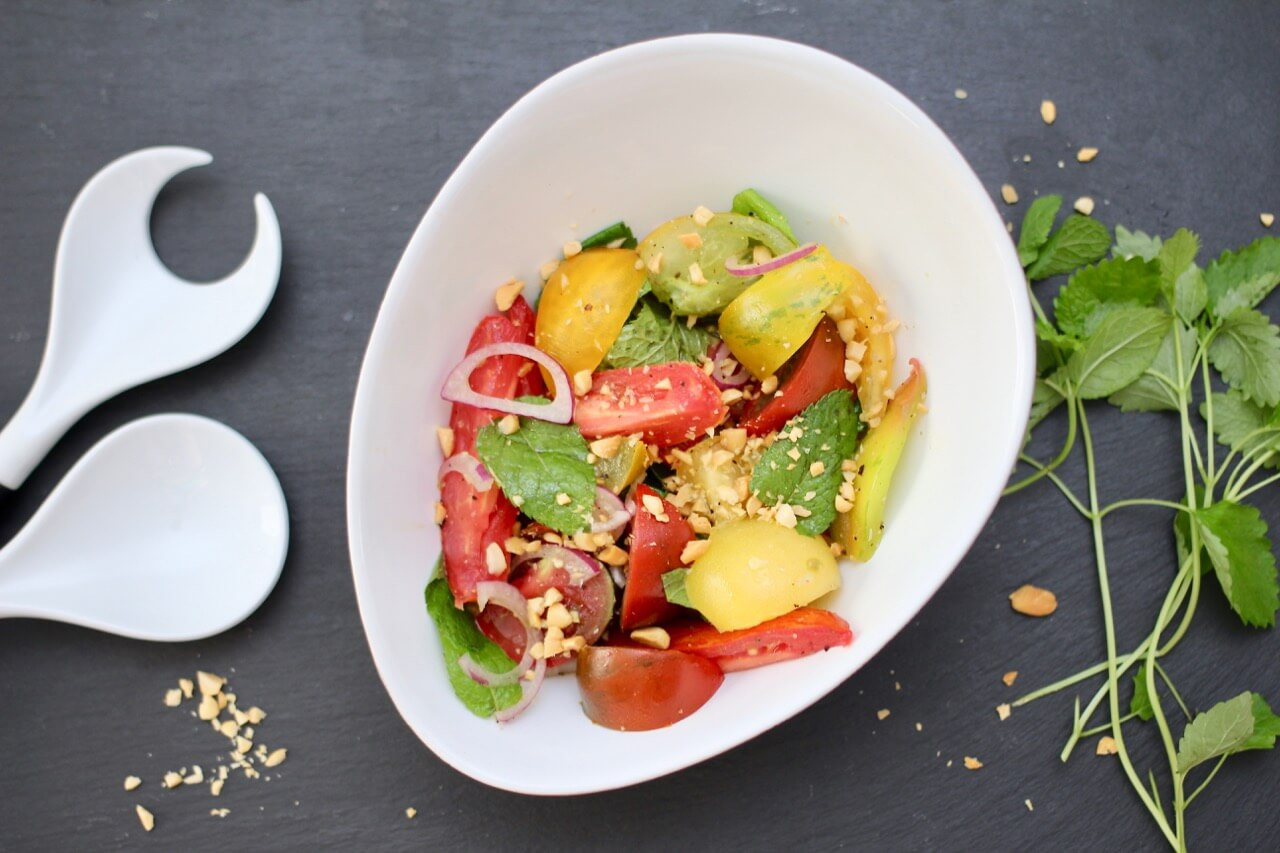 Rezept Tomatensalat mit Minze