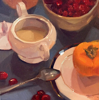 sugar bowl still life painting by sarah sedwick