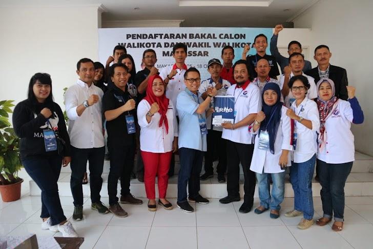 Uq Balon Walikota Makassar, Kembalikan Formulir Pendaftaran di Partai Perindo