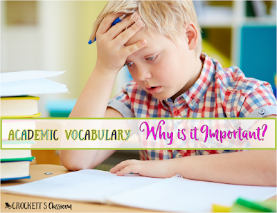 In order to succeed in academic tasks, students need to master the vocabulary they'll encounter.  That's why teaching this academic vocabulary is vital for each student's success.