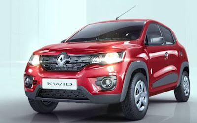 Renault Kwid 1.0 MT front on headlight
