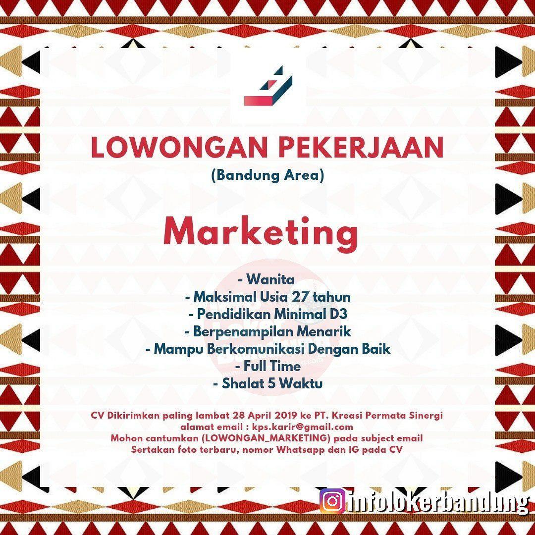 Lowongan Kerja Marketing PT. Kreasi Permata Sinergi April 2019