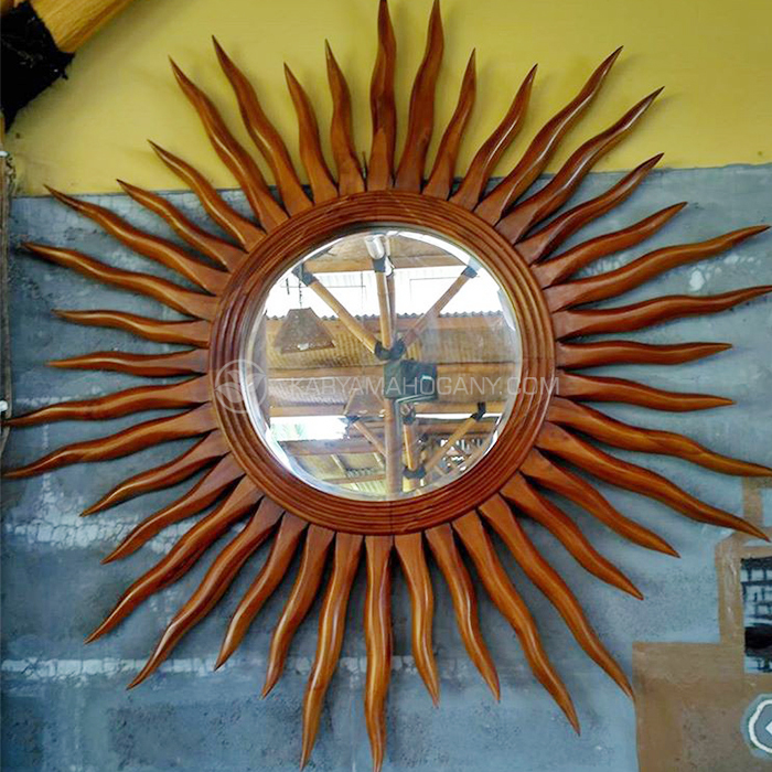 Pigura Cermin Motif Matahari | Harga Pigura Jati Jepara