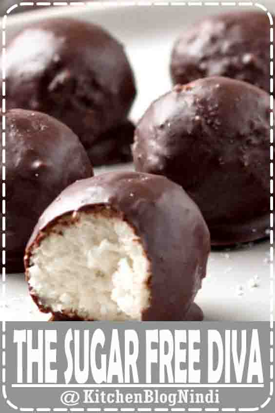 4.9★★★★★ | Sugar Free Keto Chocolate Covered Coconut Candy #Dissert #TheSugarFreeDiva