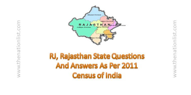 RJ, Rajasthan State Questions And Answers