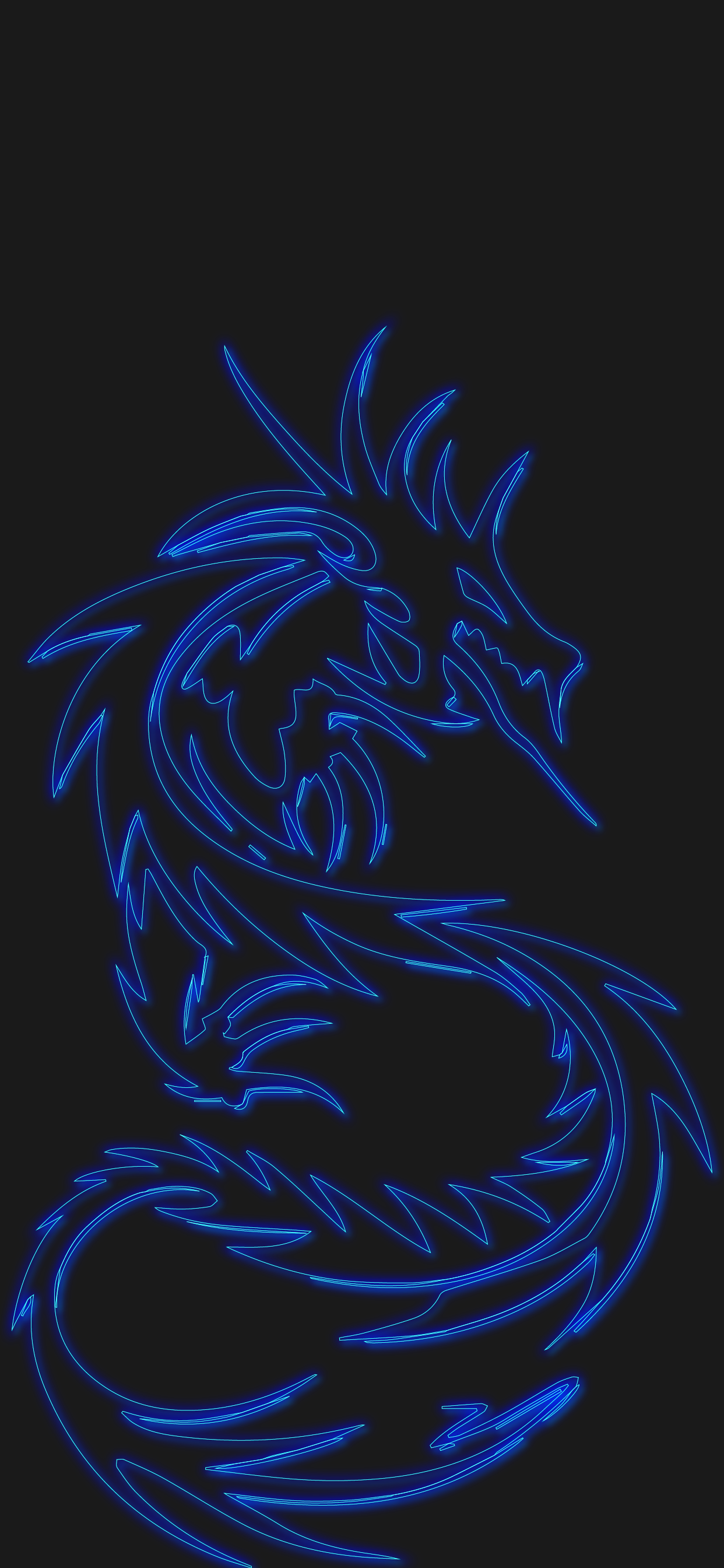 dragon neon effect