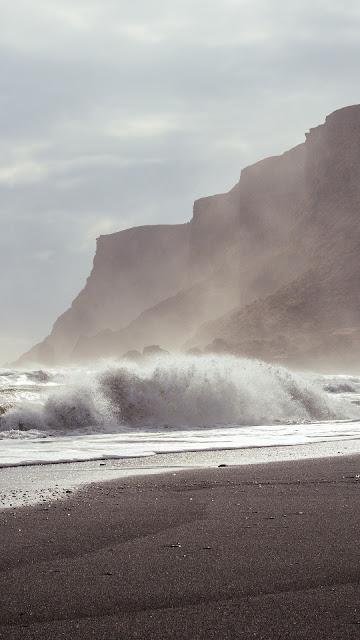Papel de Parede Foto Vintage Praia Deserta. Download grátis