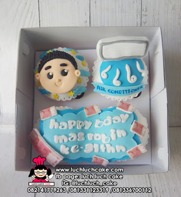 Cupcake Tema Pembersih AC (Air Conditioner)