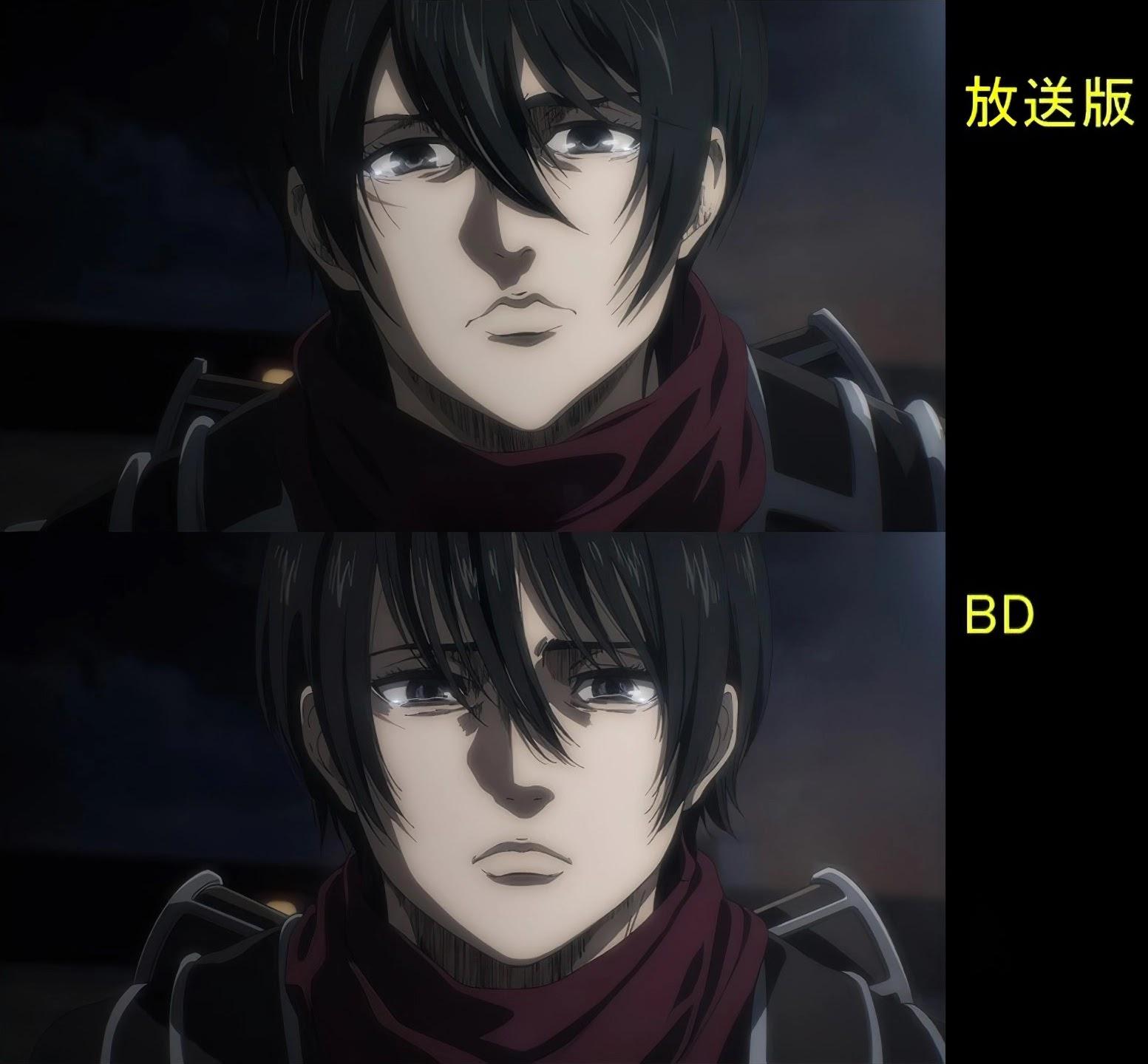 'Shingeki no Kyojin The Final Season' Veja as correções que foram feitas da versão DVD para Blu-ray