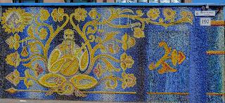 Черкаси. Мозаїчне панно на бульварі Шевченка