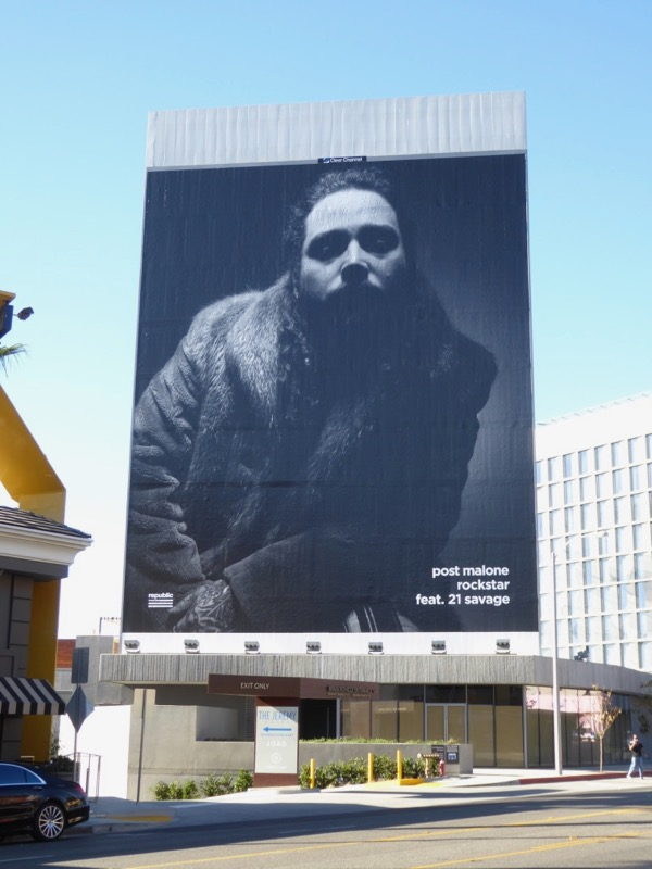 Giant Post Malone Rockstar billboard