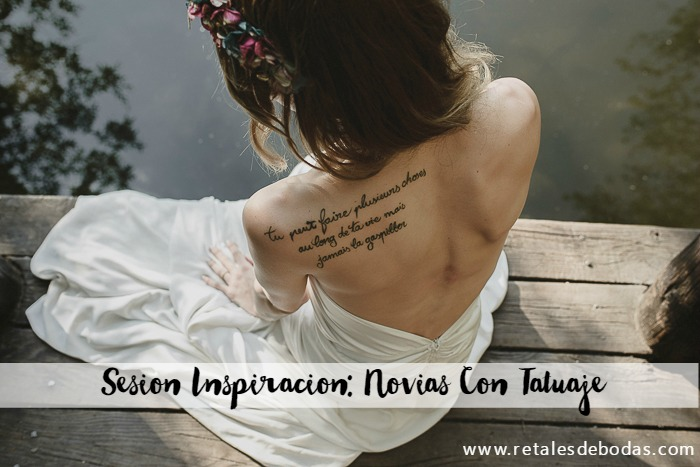 editorial sesion inspiracion ideas para novias con tatuaje retales de bodas