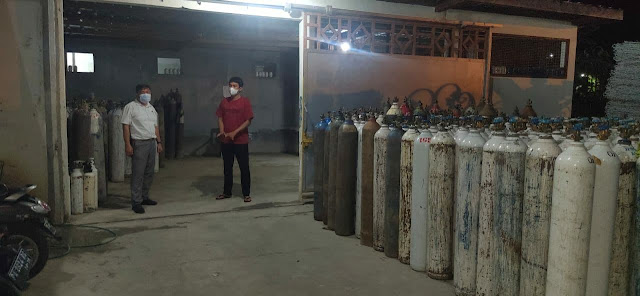 Meningkatnya Kasus Covid, Satuan Reskrim Polresta Jayapura Kota Cek Ketersedian Oksigen
