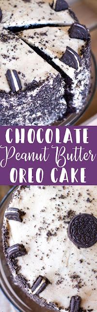 Chocolate Peanut Butter Oreo Cake