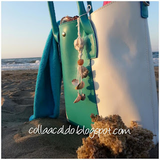 DIY beach bag charm colla a caldo