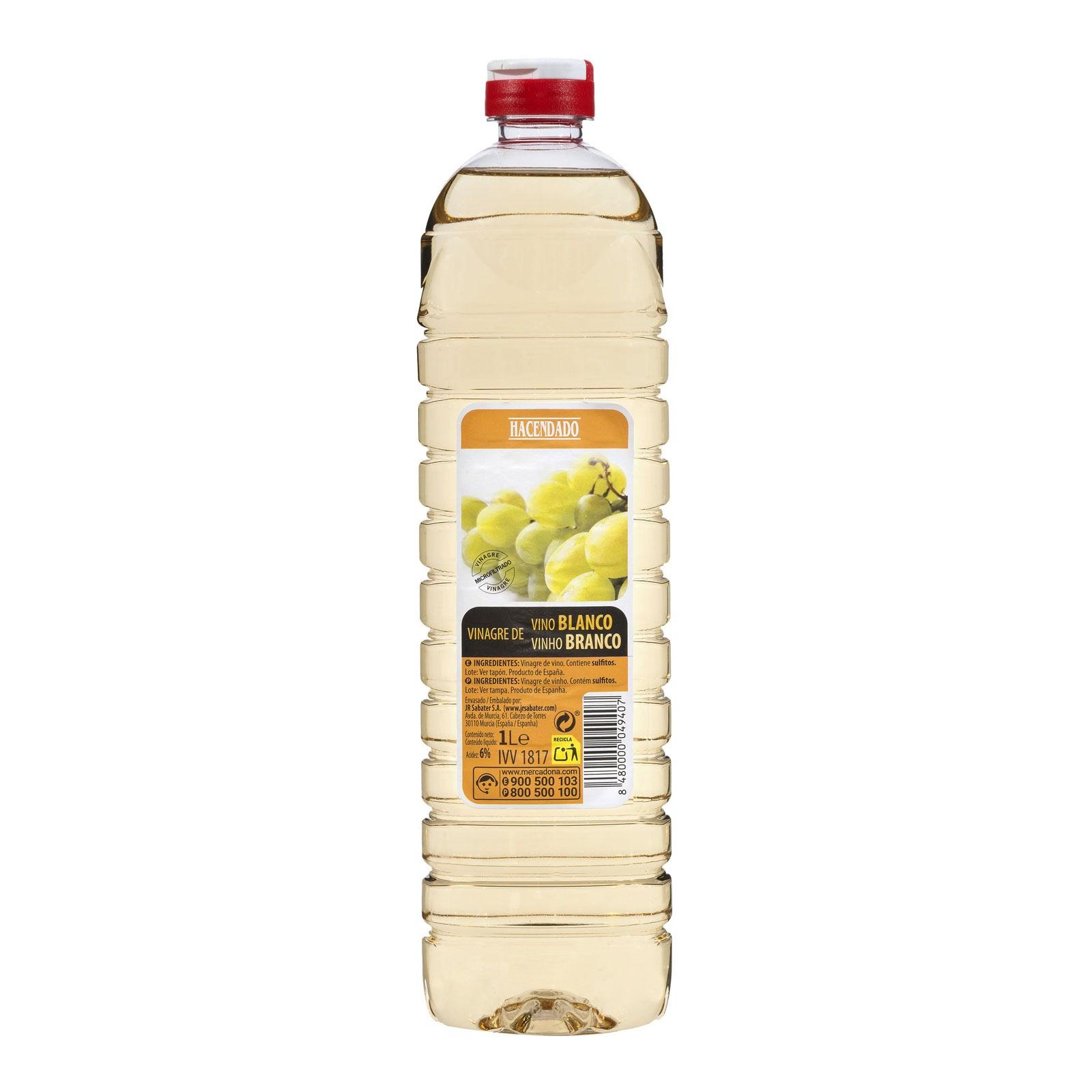 Vinagre de vino blanco Hacendado