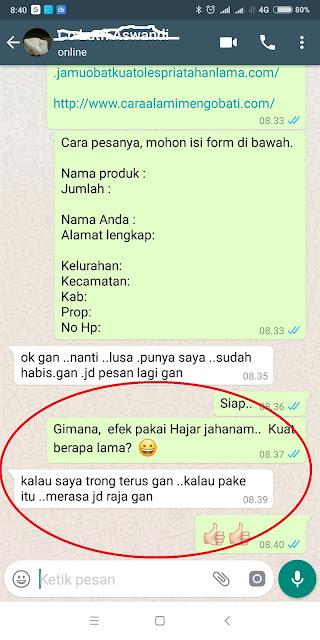 Jual Hajar Jahanam Asli di Yogyakarta Obat Kuat Oles Tahan Lama Original