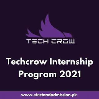 Techcrow Internship Program 2021