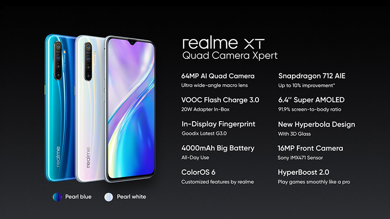Realme XT, XT 730G monster 64MP camera phones announced!