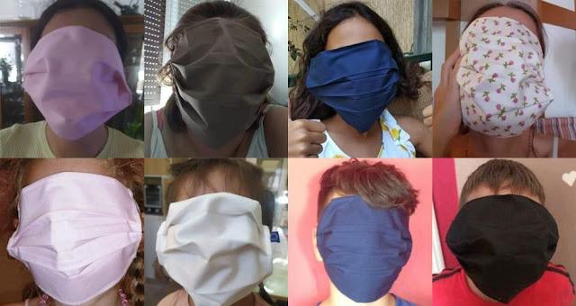 «Τραγέλαφος» με τις μάσκες που δόθηκαν στους μαθητές