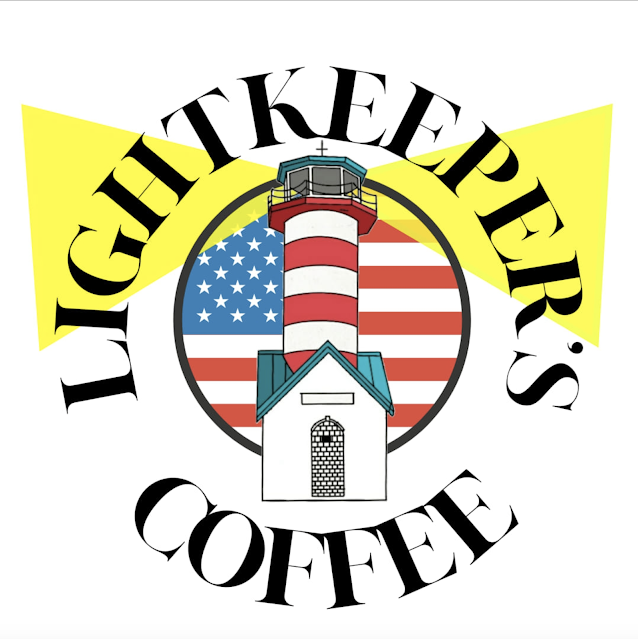 logo from website of Grafton Illinois coffee antiques shop Lightkeepers Coffee 101 E Main St Sears Vallonia
