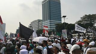 Korlap Aksi Demo PA 212 di DPR Diperiksa Polisi soal Pembakaran Bendera PDIP