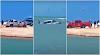 Veículo de turista atola e fica quase submerso em Jericoacoara/CE