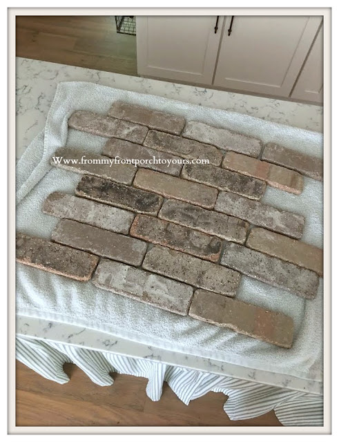 DIY Brick Project-DIY-Thin Brick-French Country Farmhouse-From My Front Porch To Yours