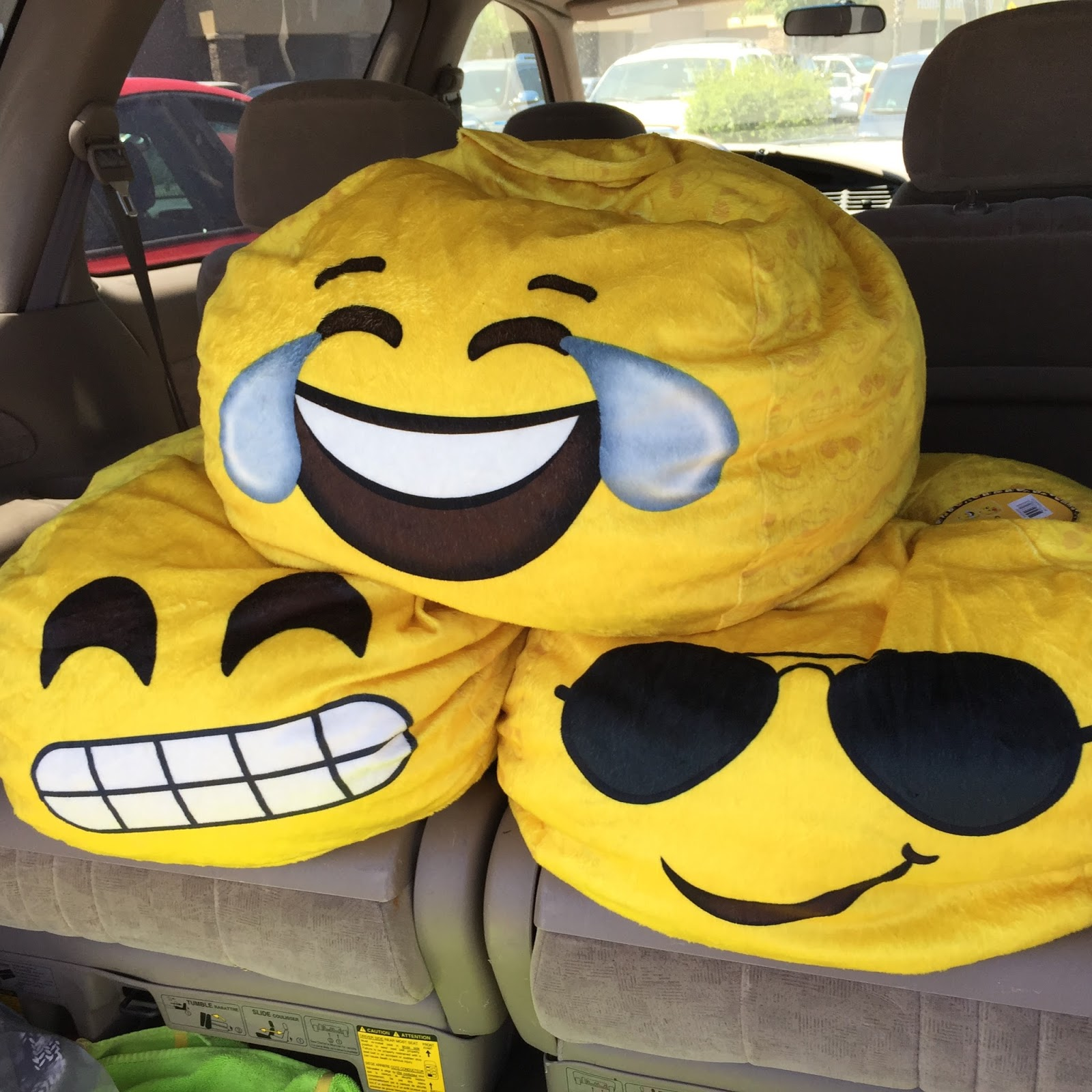 I Was Walking Through Walmart Minding My Own Business And These Emoji Beanbags Threw Themselves Into Cart Sort Of First Saw That They Were On