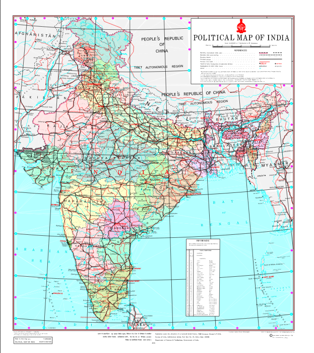 Bharat ka Naya map