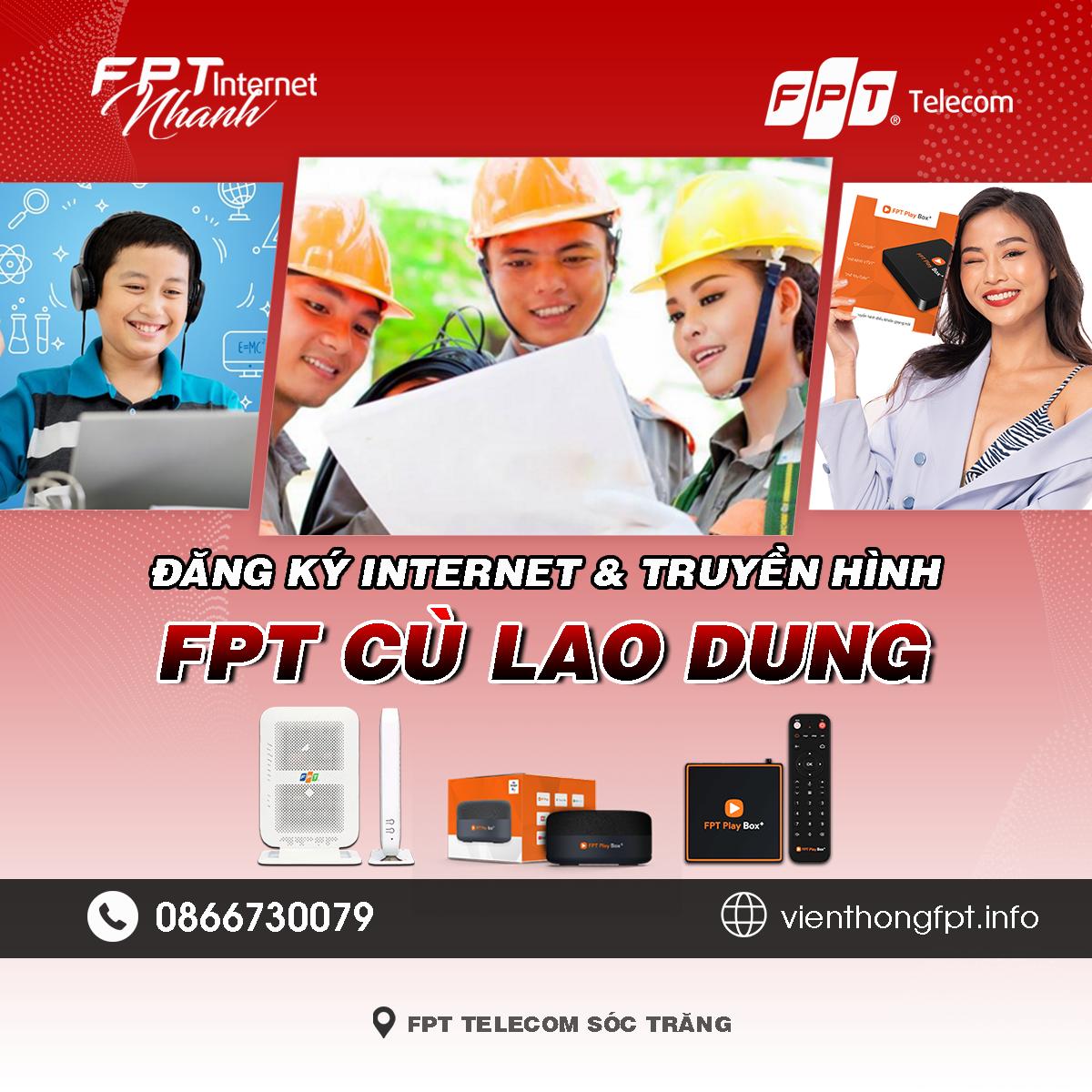 Tổng đài FPT Cù Lao Dung - Đơn vị lắp mạng Internet và Truyền hình FPT
