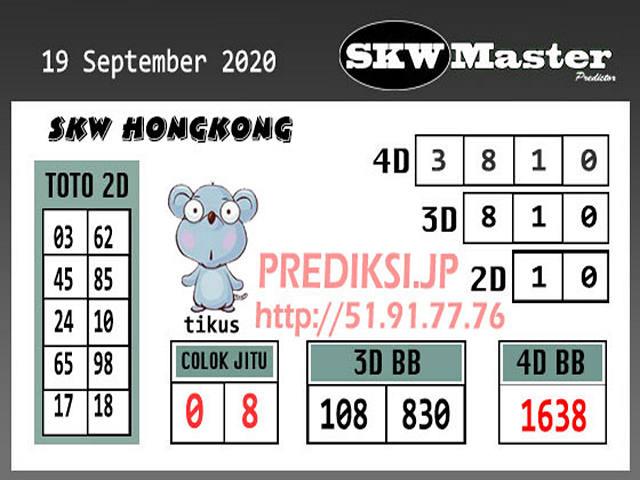 Kode syair Hongkong senin 19 oktober 2020 278