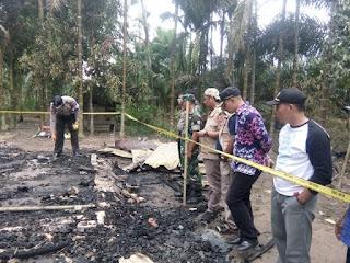 Satu Rumah yang Terbakar di Rantau Rasau Akibat Minyak Bensin