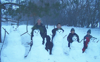 Our snowman family