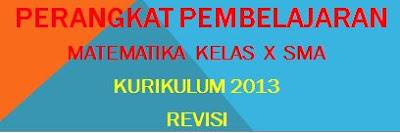 RPP Matematika SMA Kelas X Kurikulum 2013 Revisi