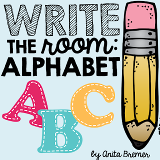 FREE write the room pack to practice letter recognition and printing!