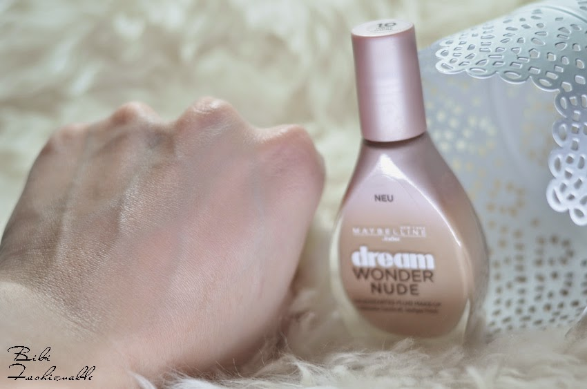 Maybelline Dream Wonder Nude Swatch eingearbeitet