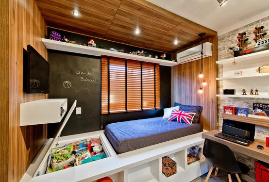 Dormitorios juveniles decorados para chicos modernos for Habitaciones juveniles modernas