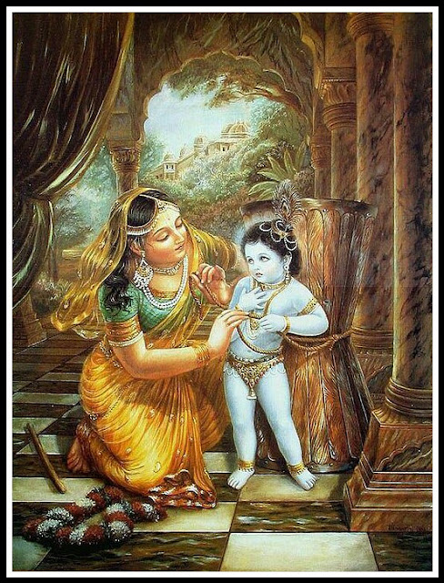 lord krishna with yashoda images