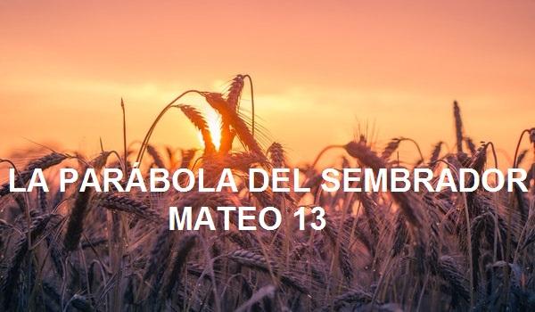 MATEO 13 - LA PARÁBOLA DEL SEMBRADOR