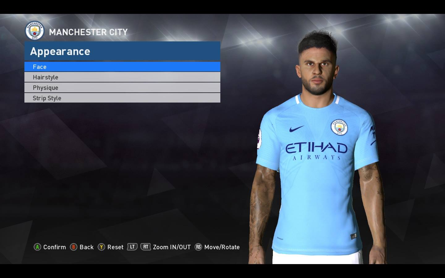 Face K. Walker PES 2017 + tatto and 3D beard by Shenawy