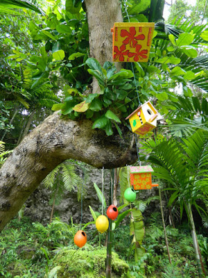 Birdhouses at Orchid World in Barbados by garden muses-not another Toronto gardening blog