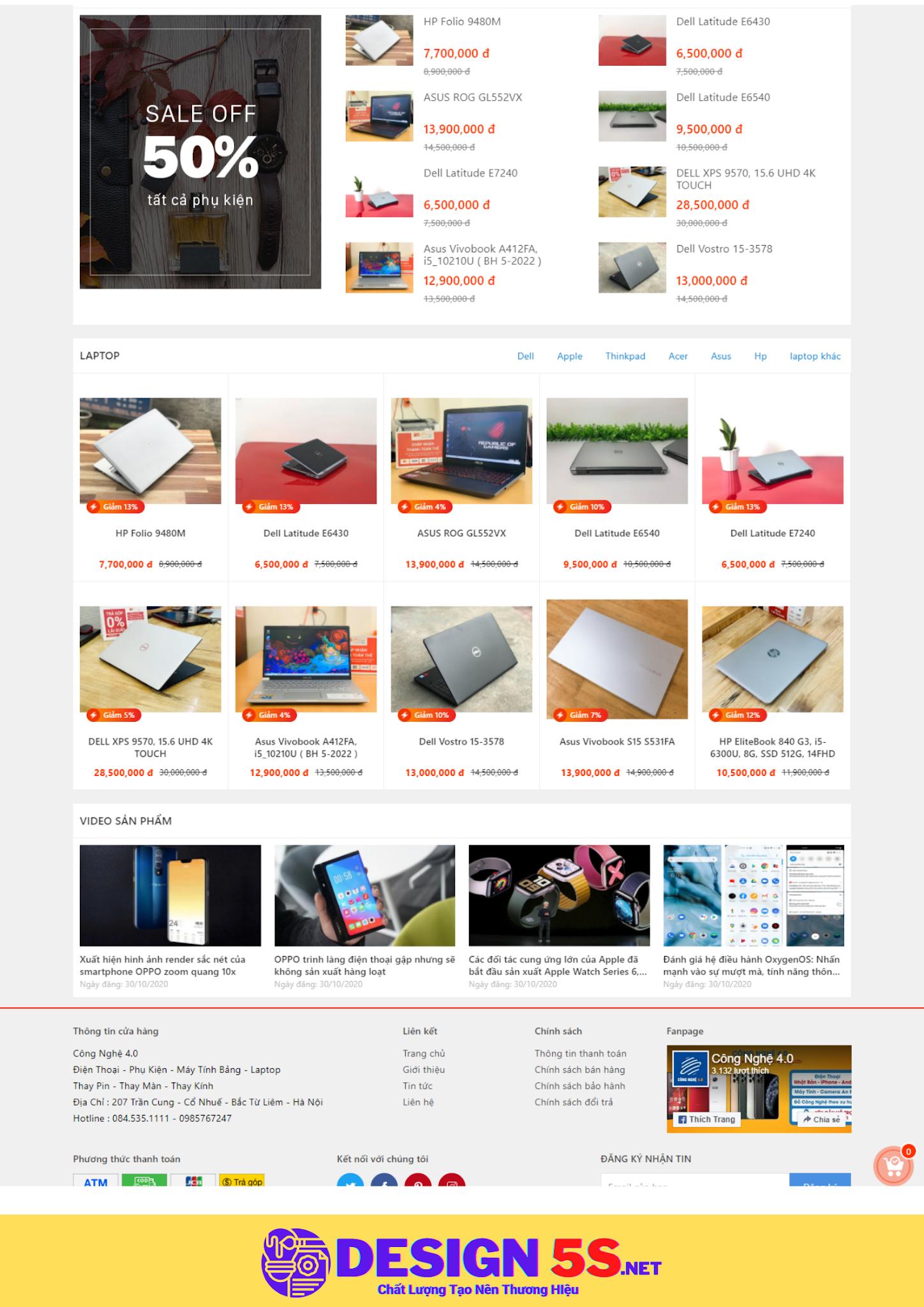Theme blogspot bán laptop, điện thoại, máy tính bảng, VSM39 - Ảnh 2