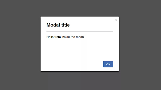 Pure CSS Simple Modal Dialog Box