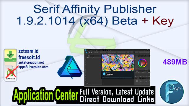Serif Affinity Publisher 1.9.2.1014 (x64) Beta + Key