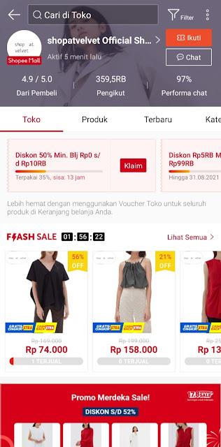 Shopatvelvet Official Shop Shopee