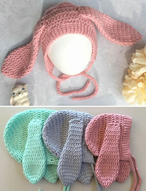 Ribbed Bunny Bonnet - Free Crochet Pattern