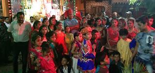 विधायक डॉ हिरालाल अलावा जी का नवरात्रि के अंतिम दिन नगर में भ्रमण किया
